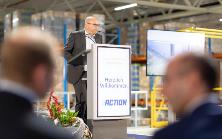 Action - Logistikzentrum-Eröffnung