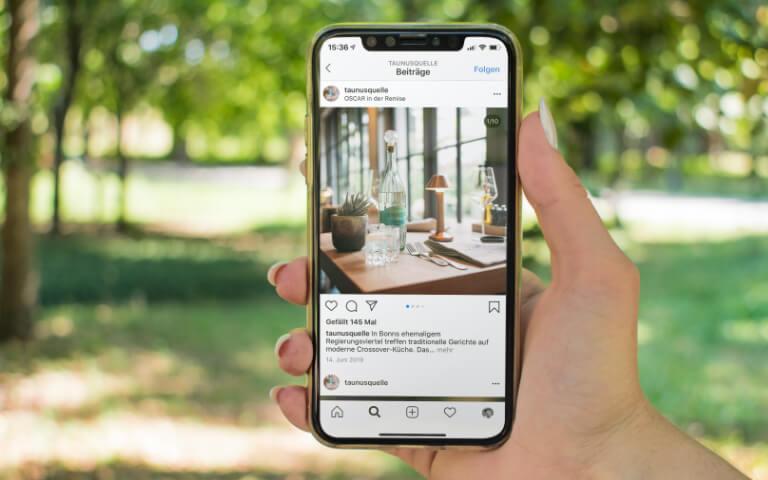 Bad Camberger Taunusquelle - B2B-Kommunikation über Instagram